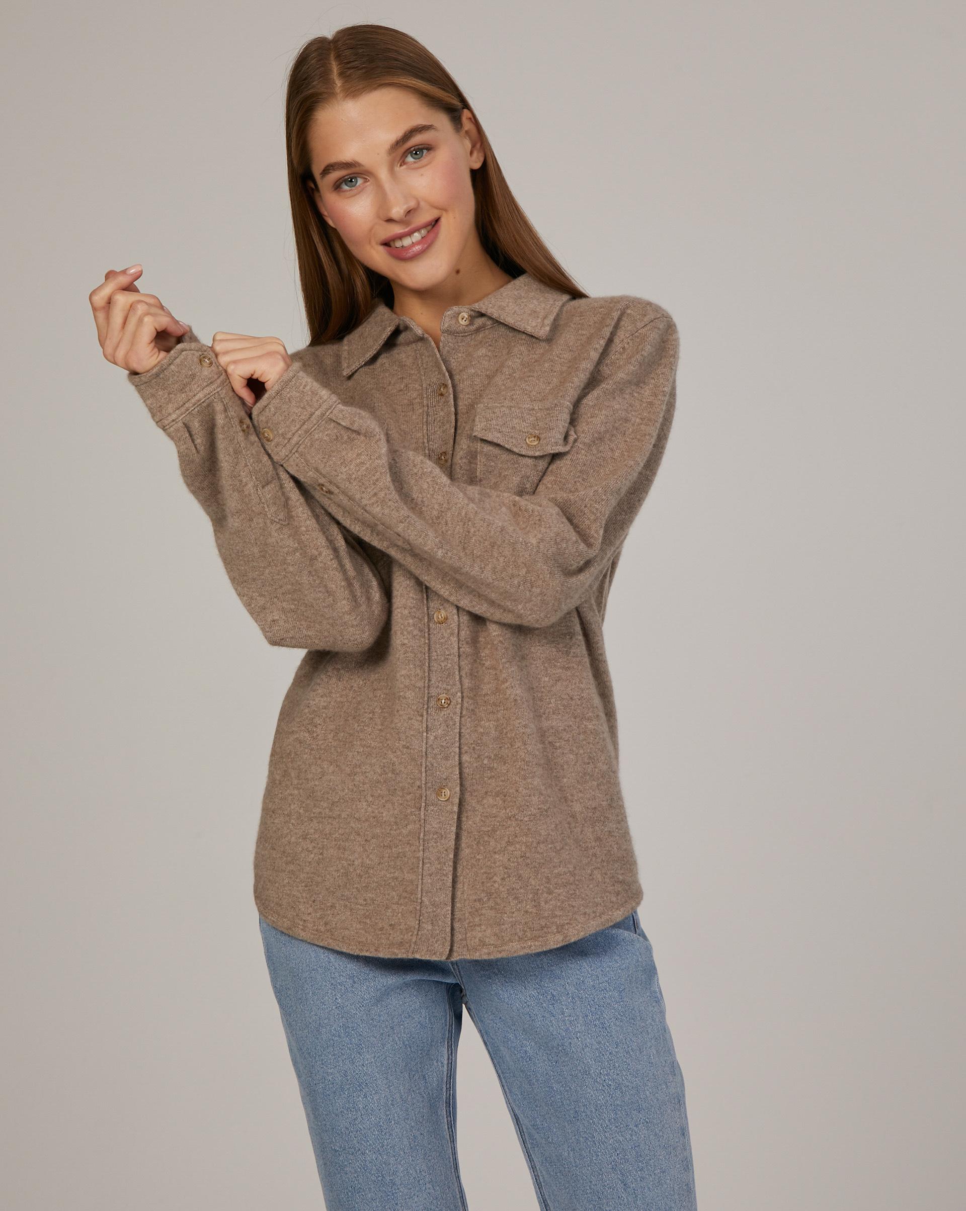 Рубашка из кашемира и шерсти