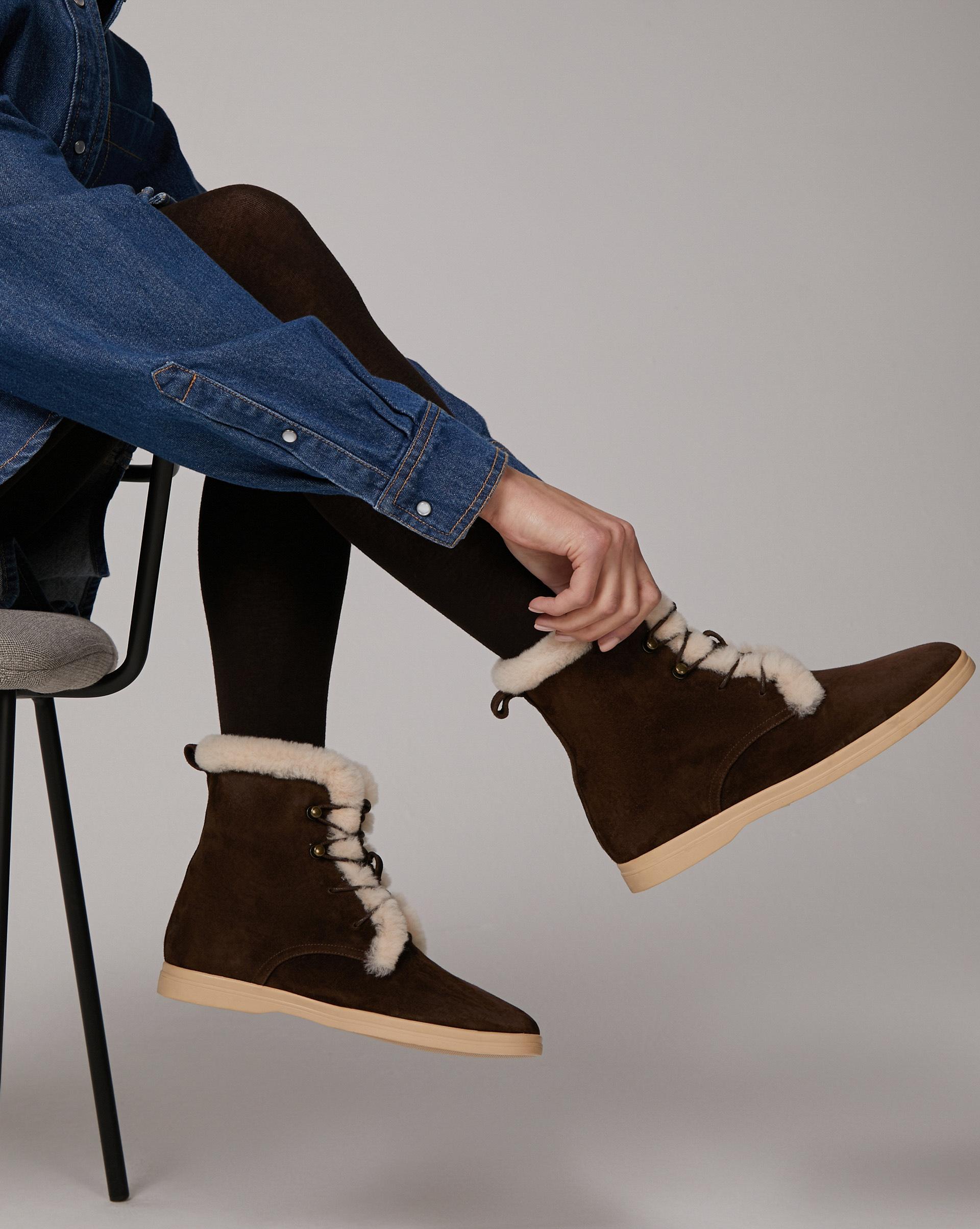 12⠀STOREEZ Высокие ботинки с мехом 12⠀storeez ботинки высокие с мехом