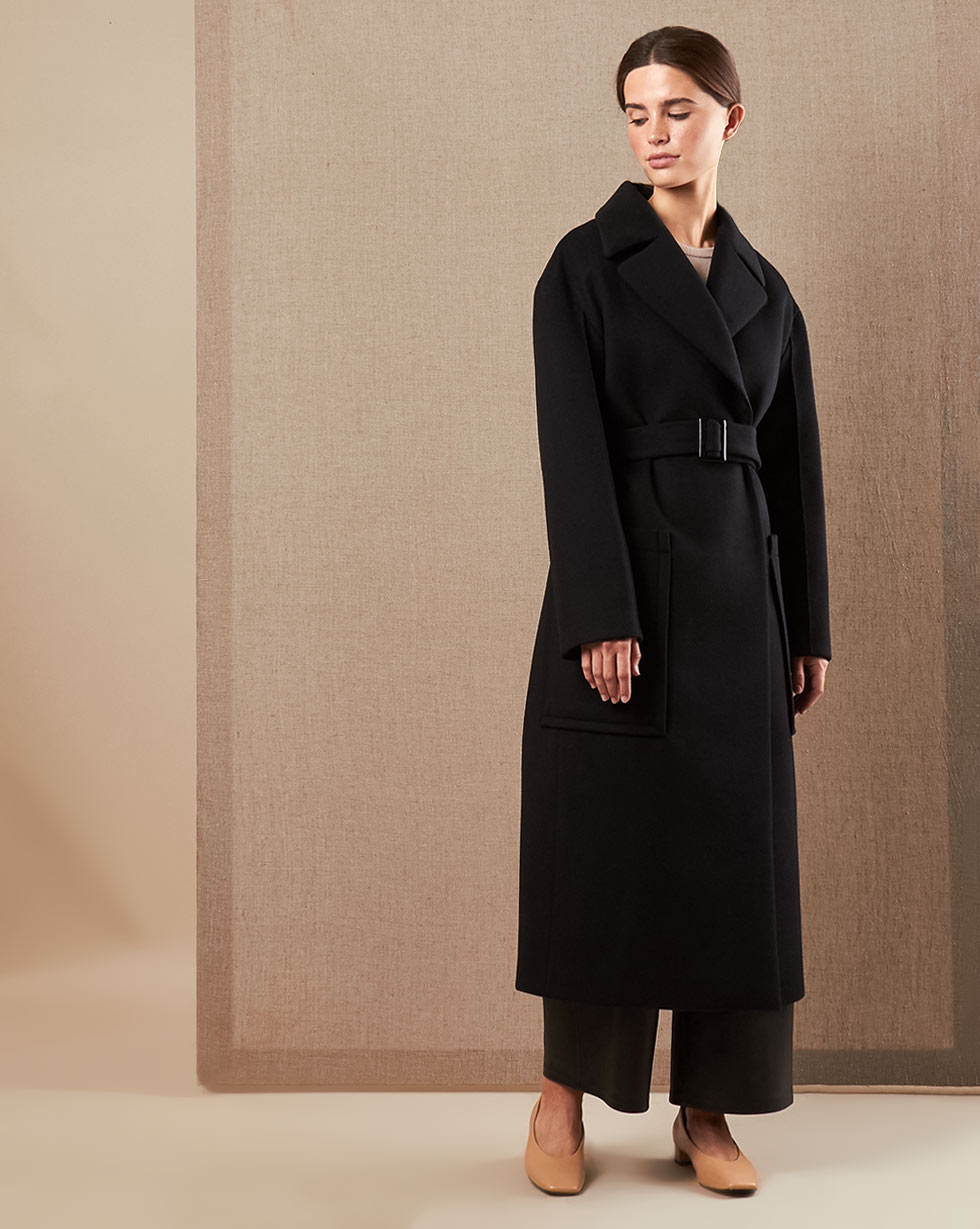 12Storeez Пальто V15-010 (Чёрный)