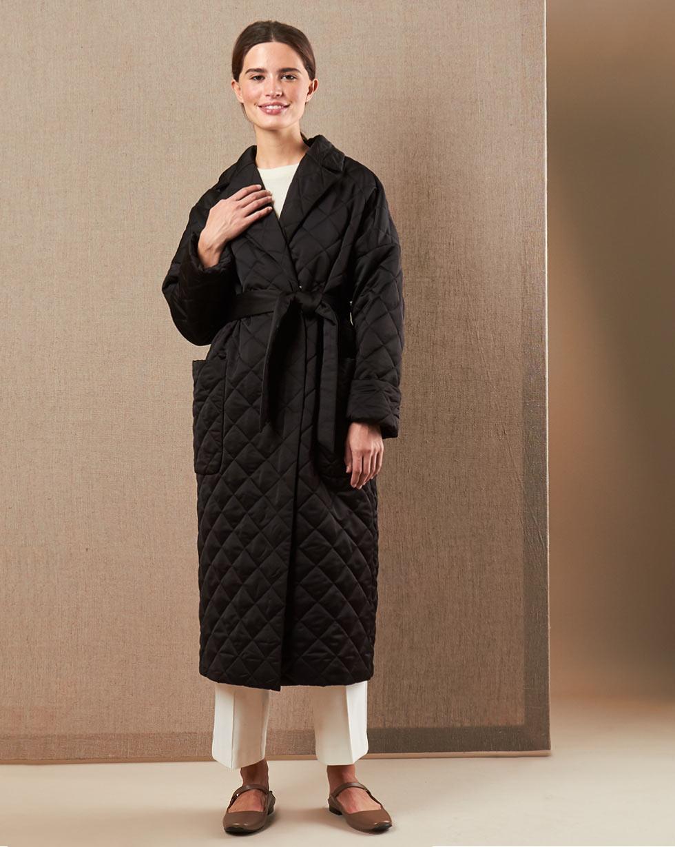 12Storeez Пальто V15-011 (Черный)