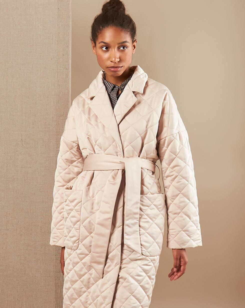 12Storeez Пальто V15-011 (Кремовый)