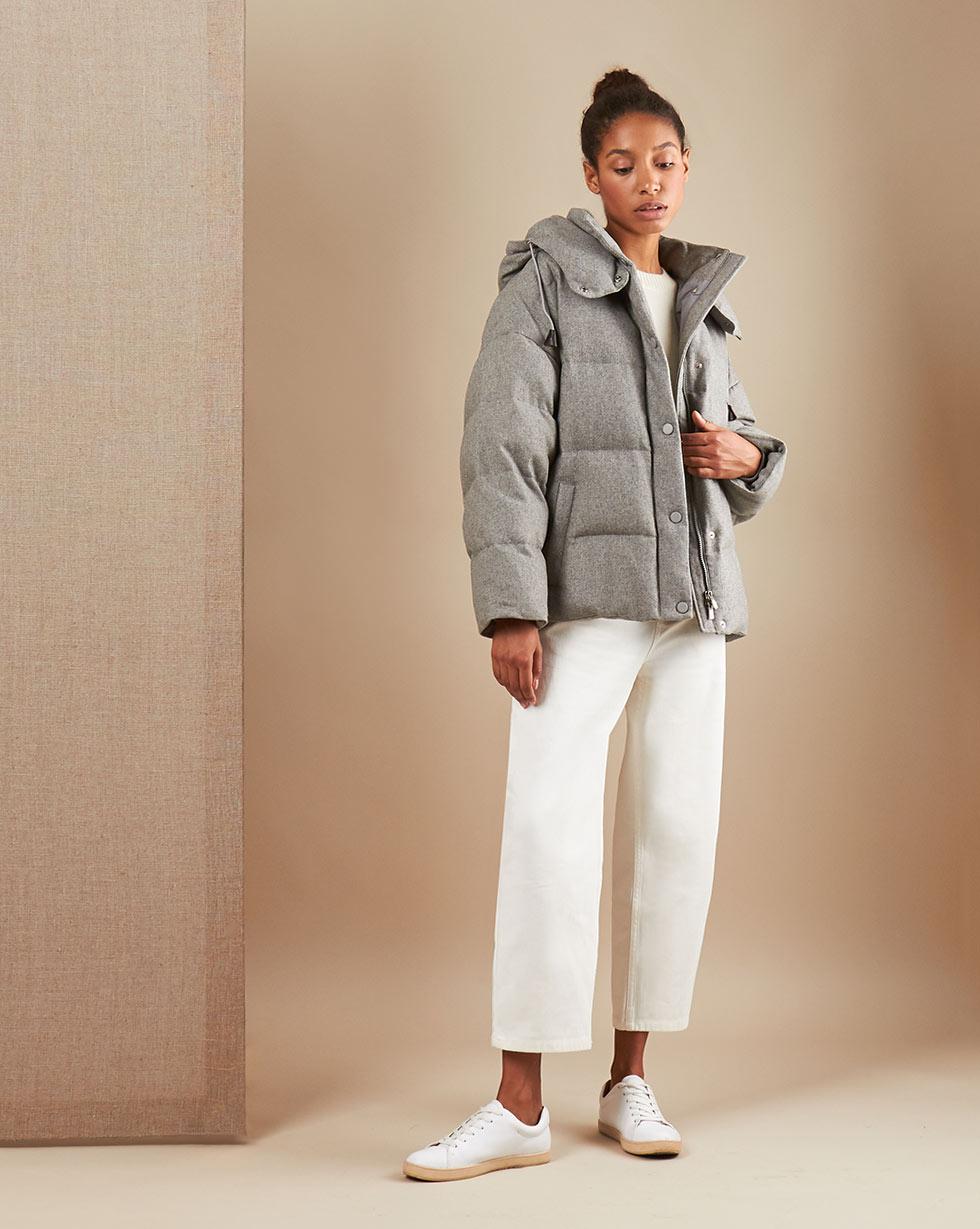 Куртка стеганая из шерсти с капюшоном by 12 Storeez