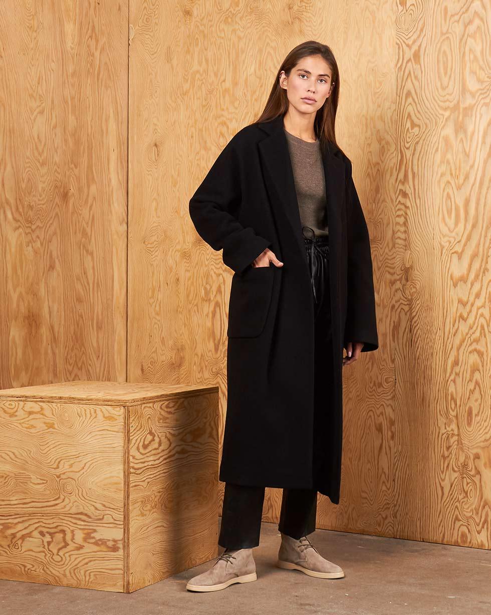цена 12Storeez Пальто V15-004 (Черный)