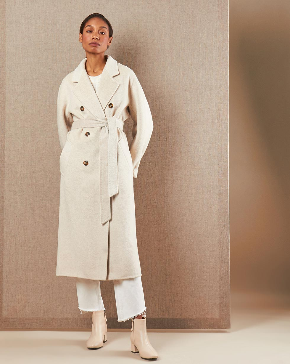 12Storeez Пальто V15-015 (Молочный)