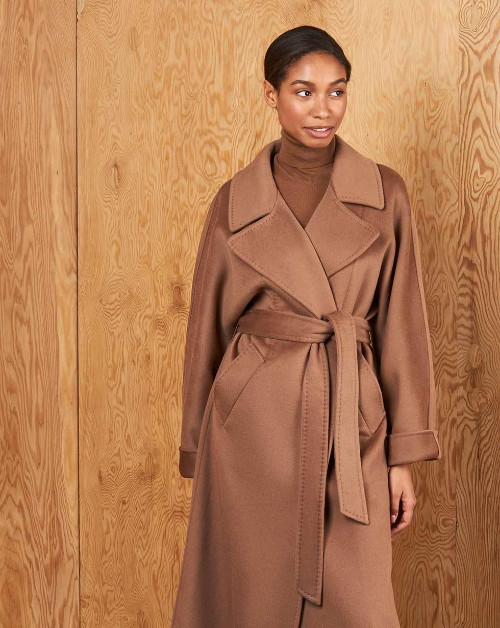 Пальто на поясе One size фото