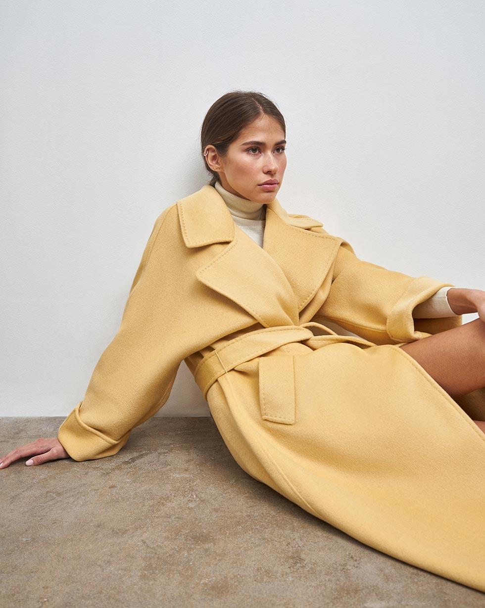 12Storeez Пальто на поясе (Песочный)