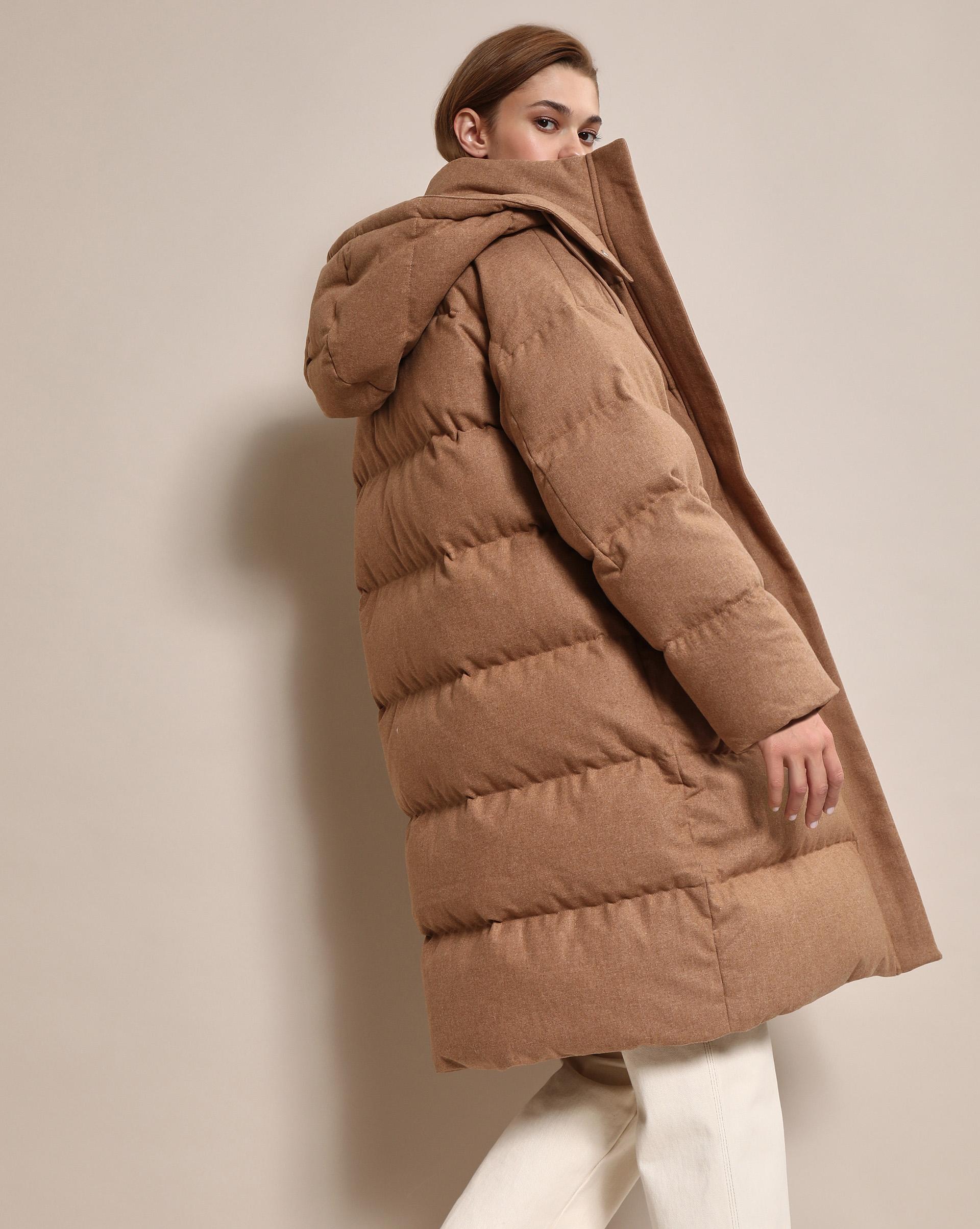 12⠀STOREEZ Стеганое пальто из шерсти с капюшоном 12⠀storeez пальто стеганое