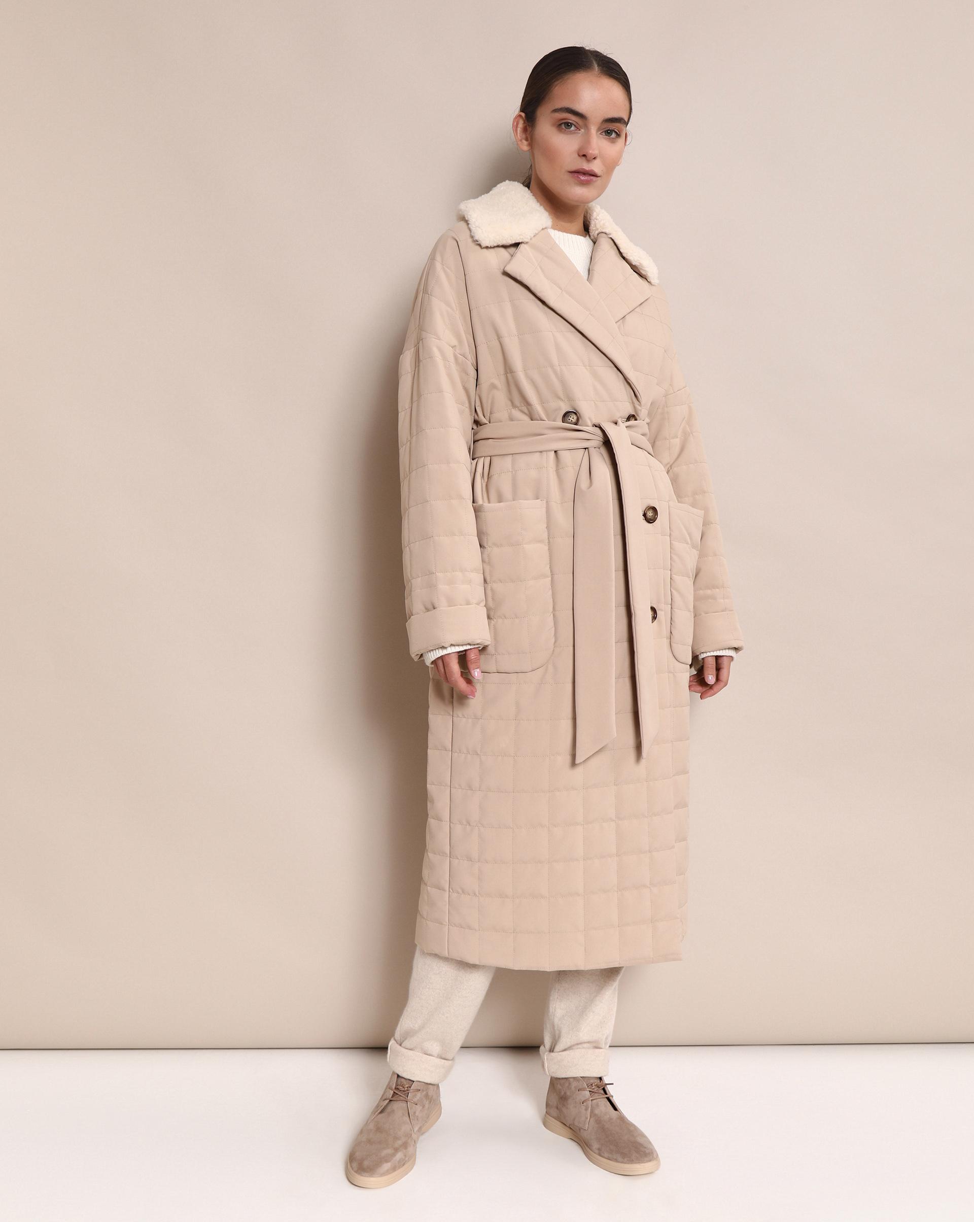 12STOREEZ Пальто прямое со стежкой