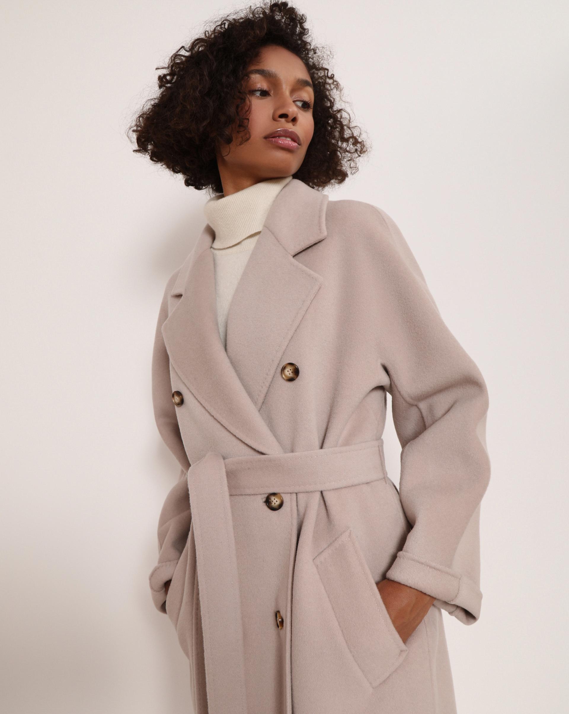 12⠀STOREEZ Пальто двубортное с поясом 105126 фото