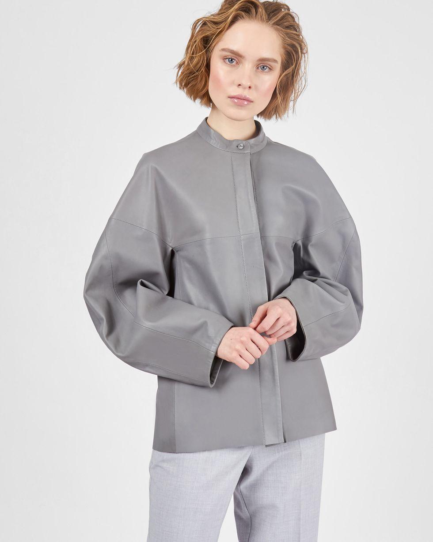 Рубашка кожаная MРубашки<br><br><br>Артикул: 230014300<br>Размер: M<br>Цвет: Серый<br>Новинка: НЕТ<br>Наименование en: Stand collar leather shirt