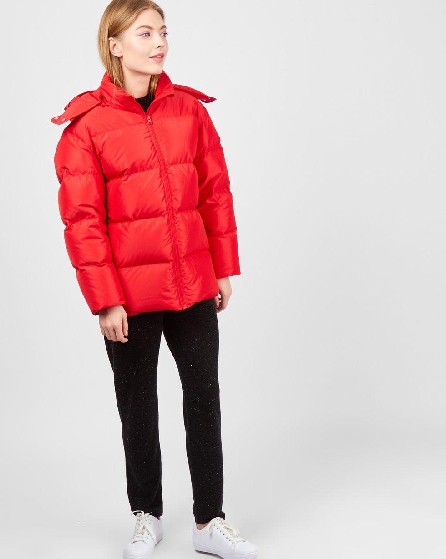 Пуховик укороченный с капюшоном XSВерхняя одежда<br><br><br>Артикул: 79910438<br>Размер: XS<br>Цвет: Красный<br>Новинка: НЕТ<br>Наименование en: Hooded puffer jacket
