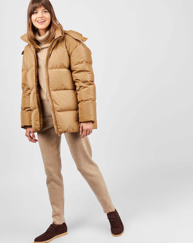 Пуховик укороченный с капюшоном MВерхняя одежда<br><br><br>Артикул: 79910440<br>Размер: M<br>Цвет: Кэмел<br>Новинка: НЕТ<br>Наименование en: Hooded puffer jacket