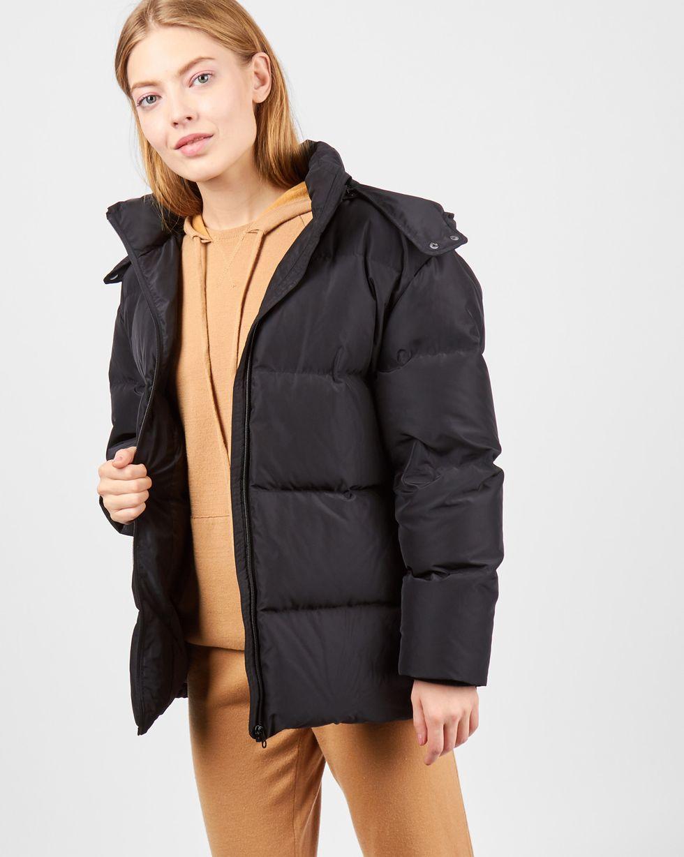 Пуховик укороченный с капюшоном XSВерхняя одежда<br><br><br>Артикул: 79910443<br>Размер: XS<br>Цвет: Черный<br>Новинка: НЕТ<br>Наименование en: Hooded puffer jacket