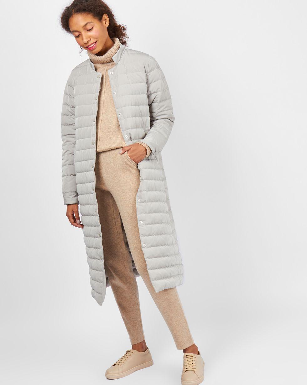 12Storeez Пальто стеганое (светло-серый)