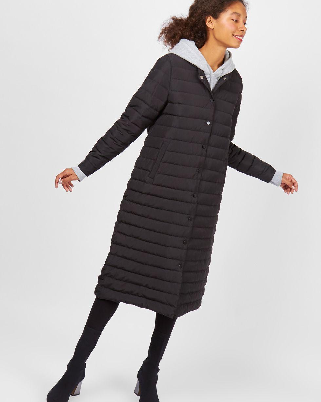 12Storeez Пальто стеганое (черный)