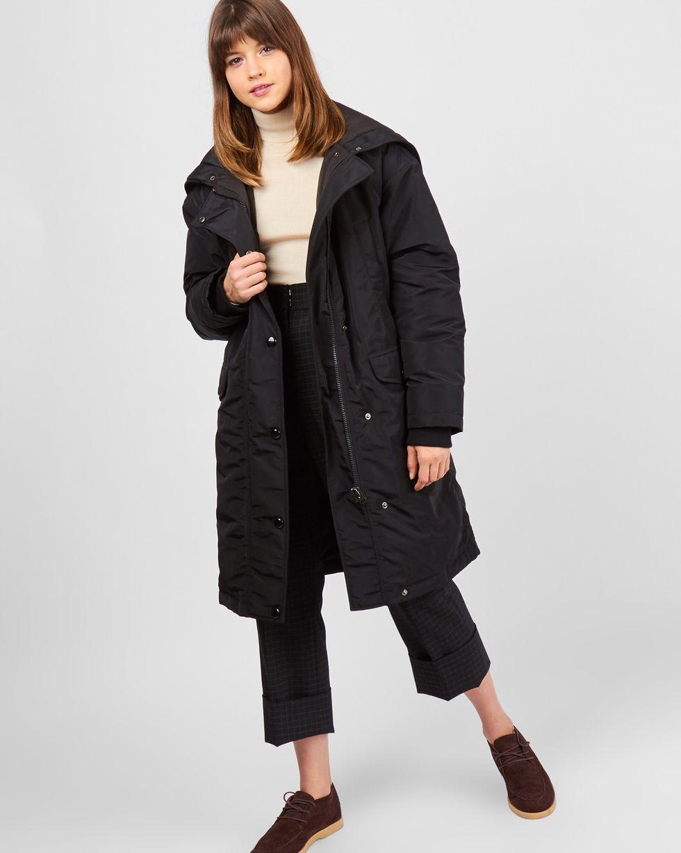 Парка утепленная XSВерхняя одежда<br><br><br>Артикул: 79910449<br>Размер: XS<br>Цвет: Черный<br>Новинка: НЕТ<br>Наименование en: Padded down parka jacket