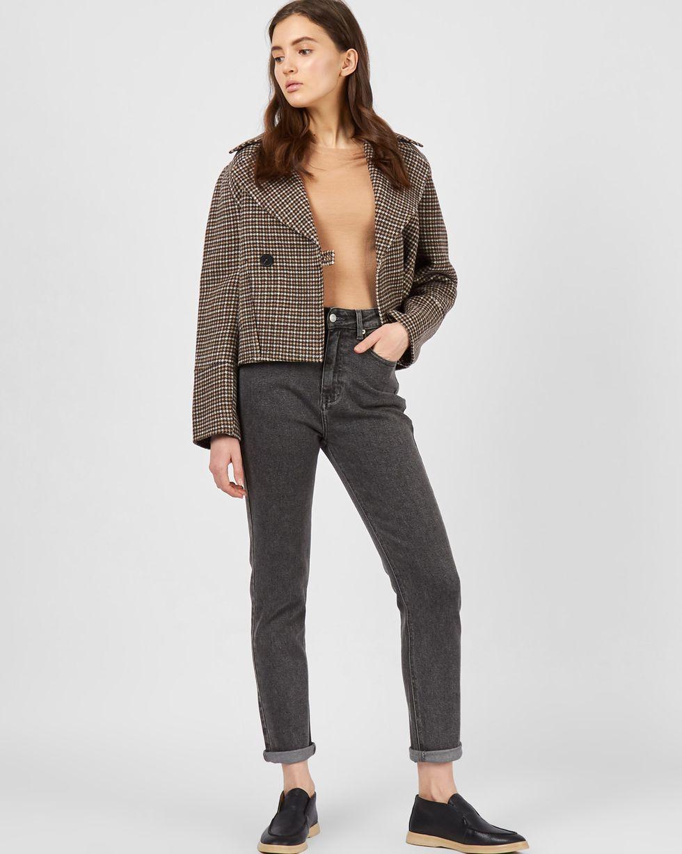 12Storeez Укороченное пальто-жакет (гусиная лапка коричневый) 12storeez пальто жакет кэмел