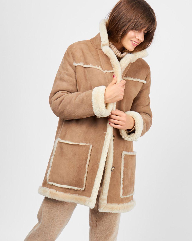 Дубленка XSВерхняя одежда<br><br><br>Артикул: 79911360<br>Размер: XS<br>Цвет: Бежевый<br>Новинка: НЕТ<br>Наименование en: Shearling coat