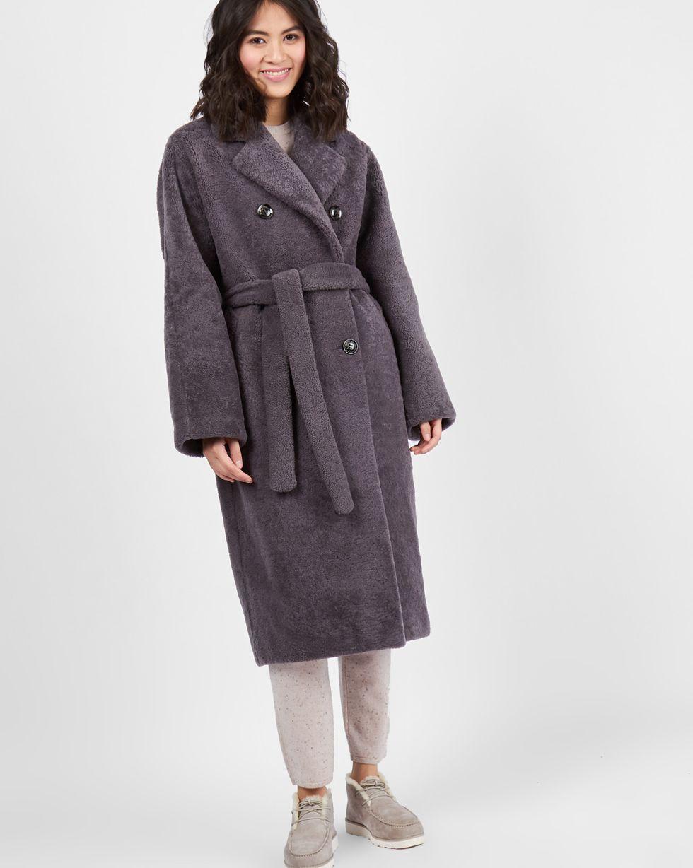 Шуба облегченная XSВерхняя одежда<br><br><br>Артикул: 79911500<br>Размер: XS<br>Цвет: Серый<br>Новинка: НЕТ<br>Наименование en: Belted shearling coat