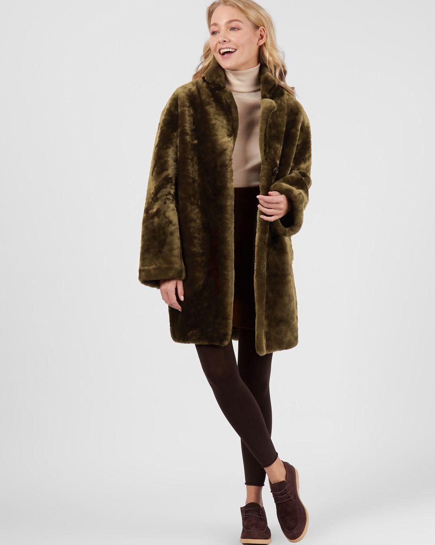 Шуба короткая SВерхняя одежда<br><br><br>Артикул: 79911784<br>Размер: S<br>Цвет: Хаки<br>Новинка: НЕТ<br>Наименование en: Mouton coat