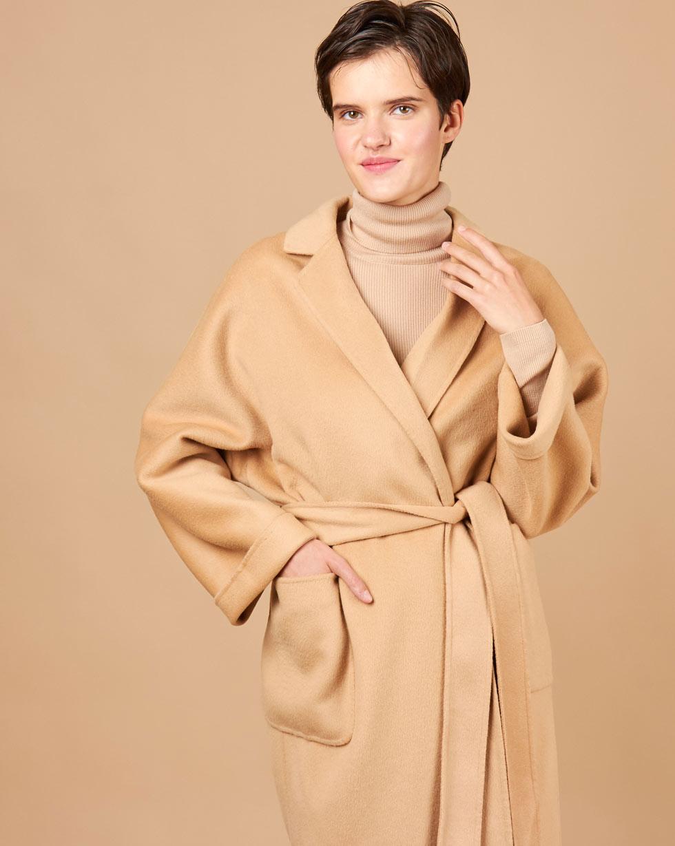 12Storeez Пальто-халат (кэмел) FW17-18 пальто