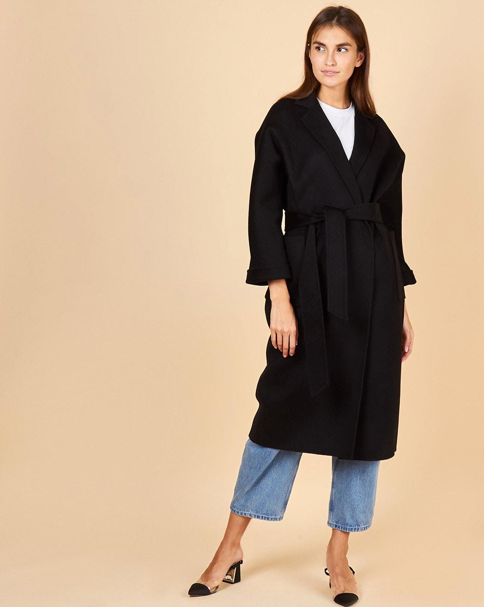 12Storeez Пальто-халат (черный) FW17-18