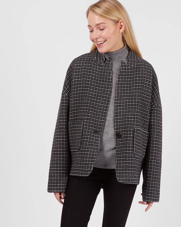 Пальто-жакет One sizeВерхняя одежда<br><br><br>Артикул: 79912635<br>Размер: One size<br>Цвет: Серый<br>Новинка: НЕТ<br>Наименование en: Wool blend jacket