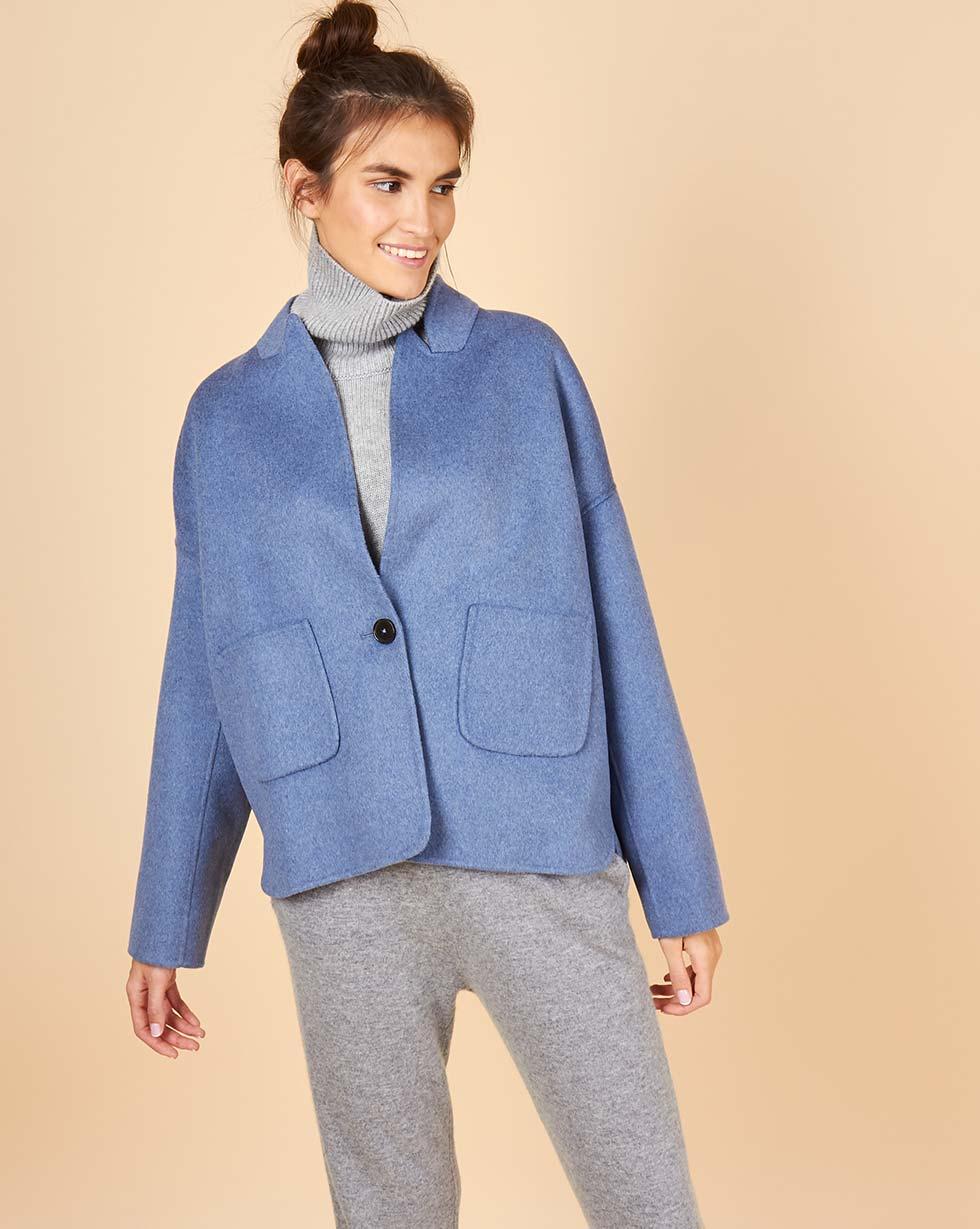 12Storeez Пальто-жакет (голубой)
