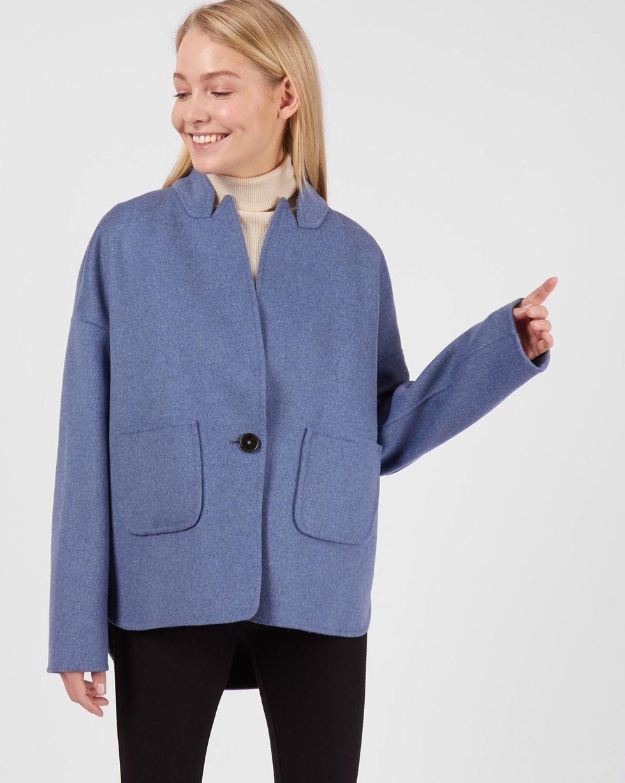 Пальто-жакет One sizeВерхняя одежда<br><br><br>Артикул: 79912638<br>Размер: One size<br>Цвет: Голубой<br>Новинка: НЕТ<br>Наименование en: Wool blend jacket