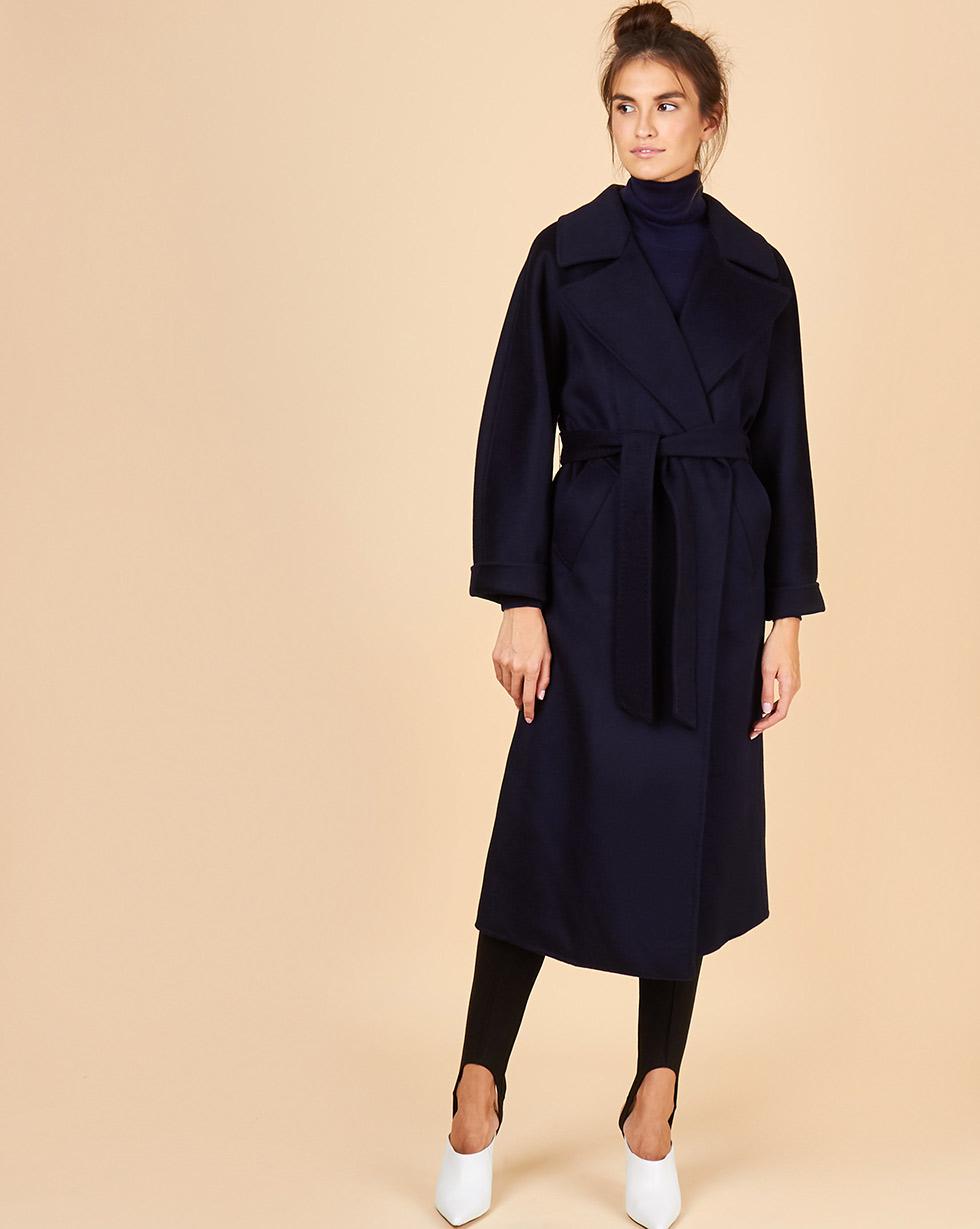 12Storeez Пальто на поясе (темно-синий)