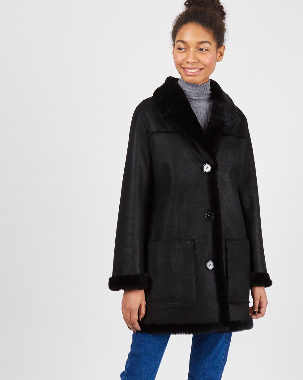 Дубленка с покрытием SВерхняя одежда<br><br><br>Артикул: 79912776<br>Размер: S<br>Цвет: Черный<br>Новинка: НЕТ<br>Наименование en: Sealed finish shearling coat