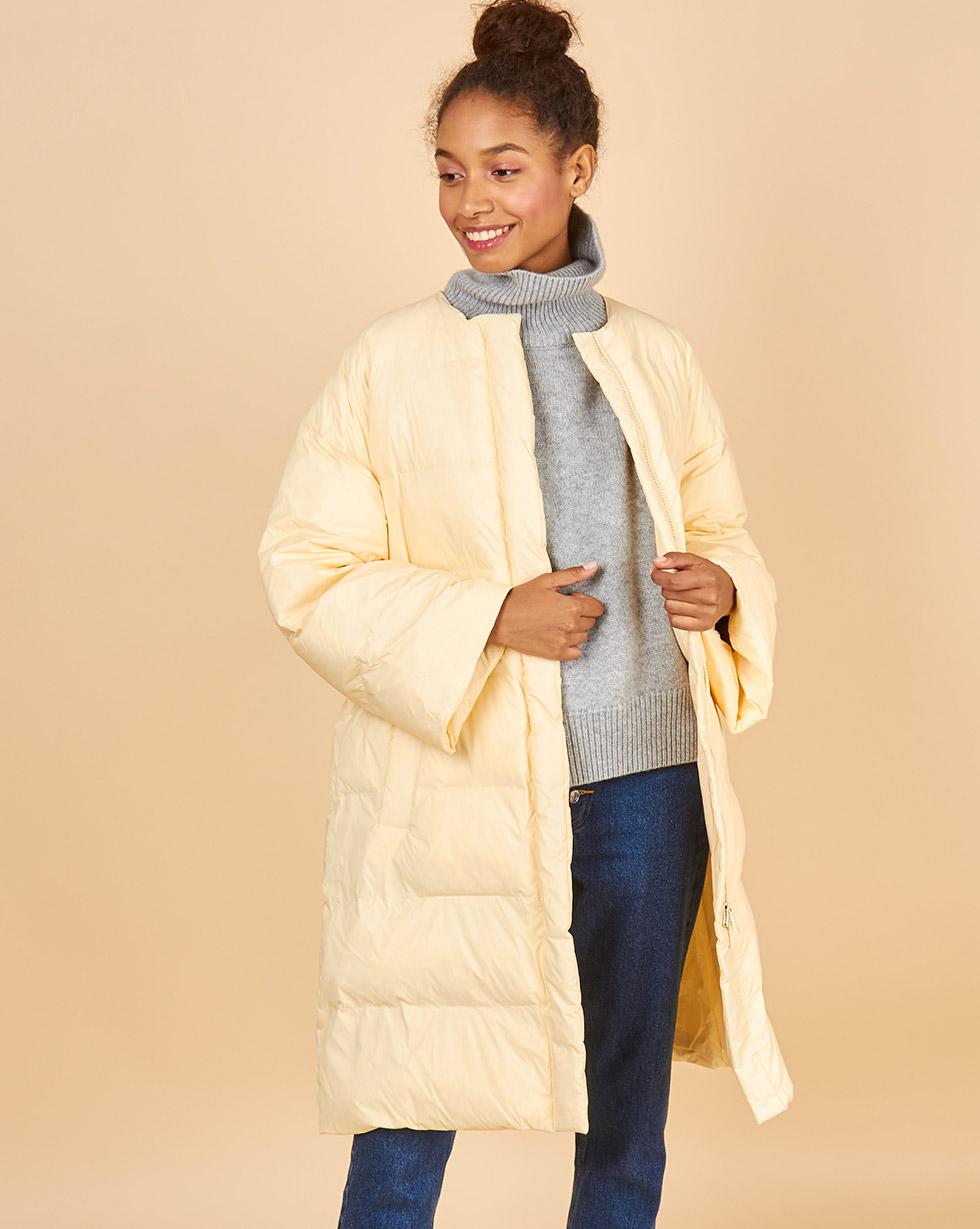 12Storeez Пальто стеганое облегченное ss2018 (светло-желтый)