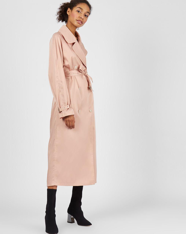 Плащ на поясе MВерхняя одежда<br><br><br>Артикул: 79913555<br>Размер: M<br>Цвет: Светло-розовый<br>Новинка: НЕТ<br>Наименование en: Lightweight belted trench coat
