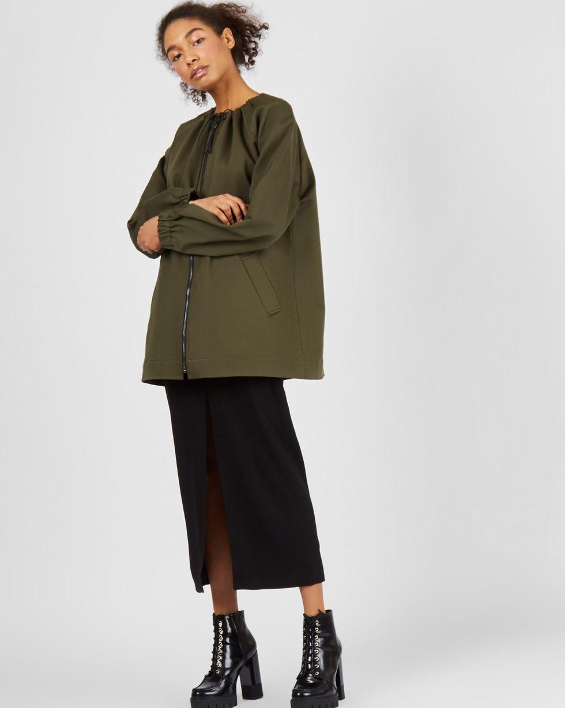 12Storeez Куртка с кулисой (хаки) на авто хаки