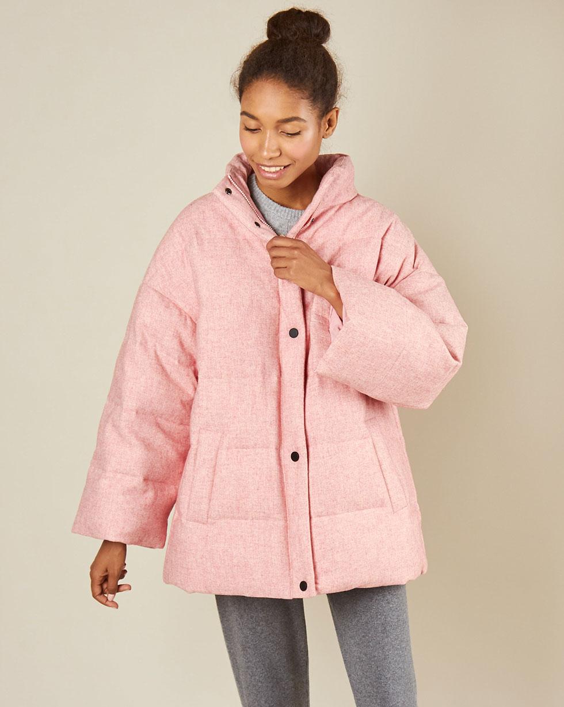 12Storeez Жакет стеганый из шерсти (розовый) 12storeez жакет из шерсти на пуговицах светло серый