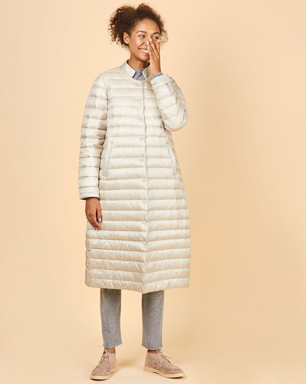 12Storeez Пальто стеганое (светло-серый) FW18