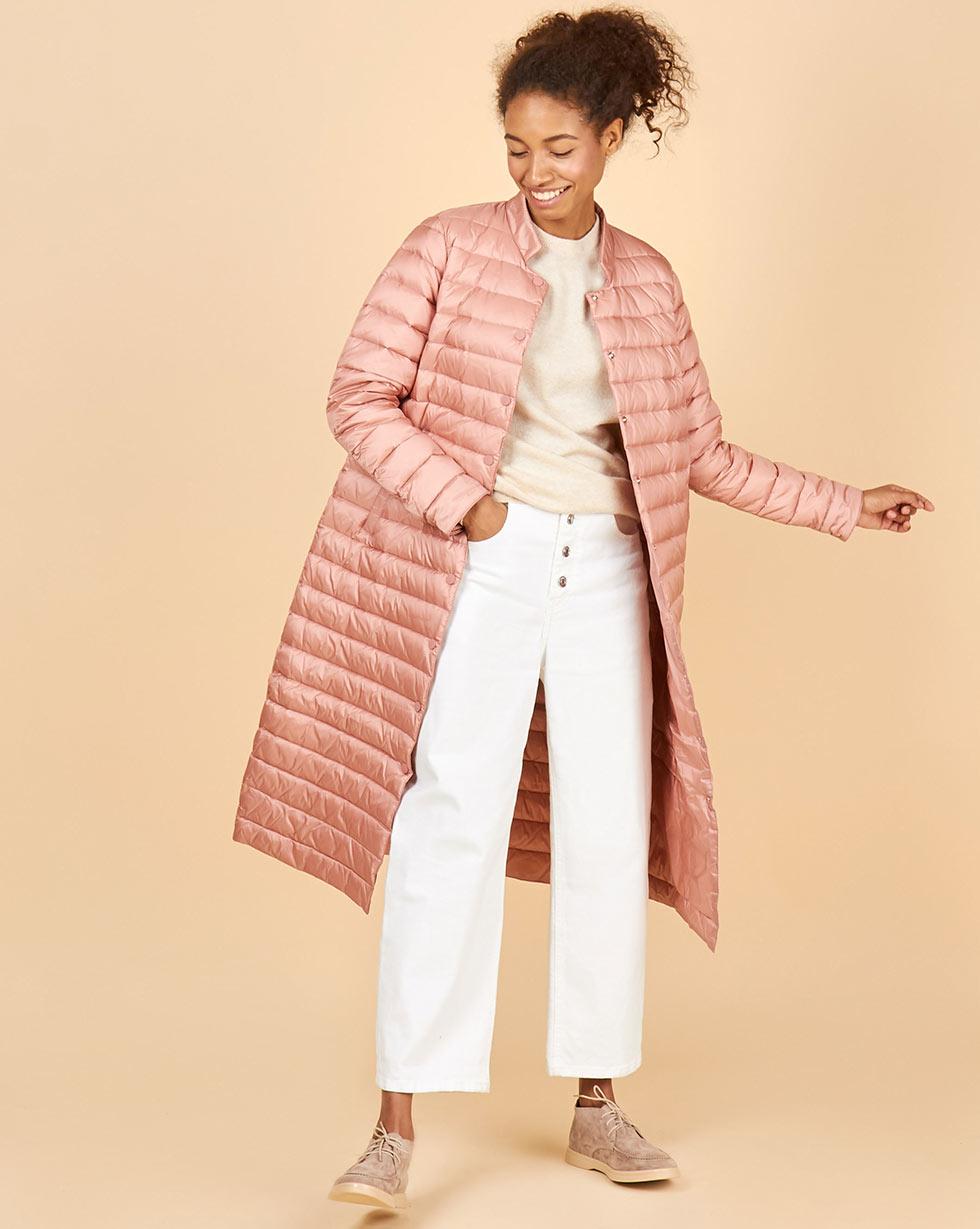 12Storeez Пальто стеганое (темно-розовый) FW18 пальто короткое стеганое