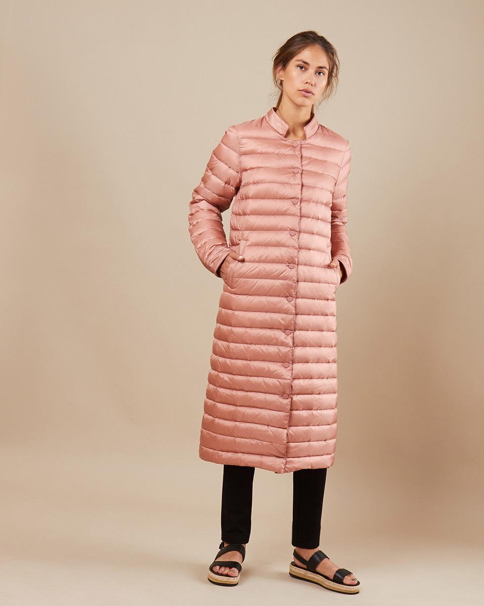 12Storeez Пальто стеганое (темно-розовый) FW18 12storeez пальто стеганое из шерсти темно серое