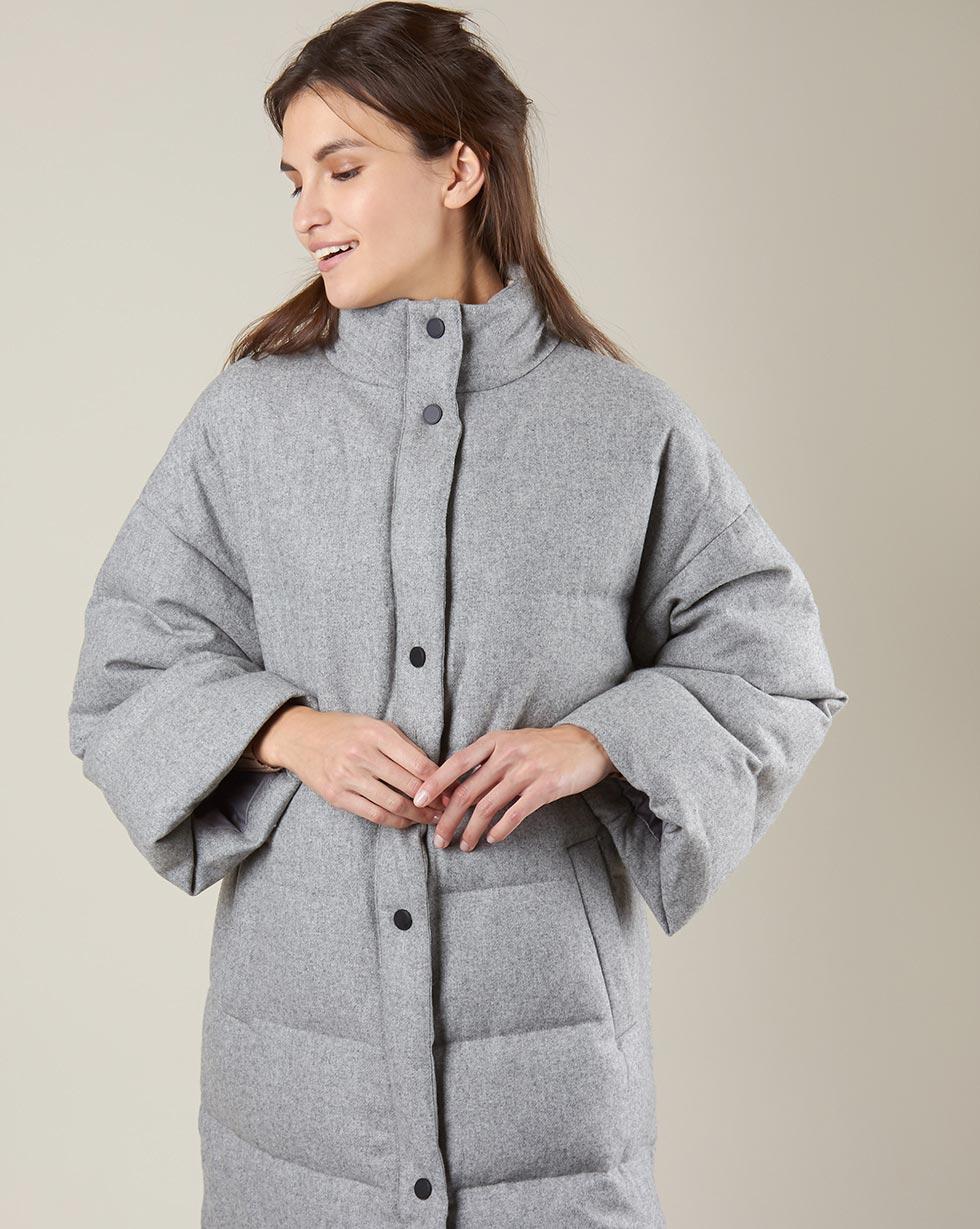 купить 12Storeez Пальто стеганое из шерсти (серый) FW18 дешево