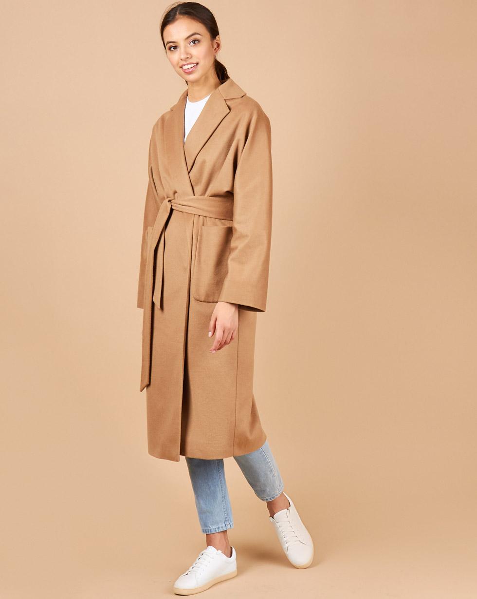 12Storeez Пальто - халат (темно-бежевый)