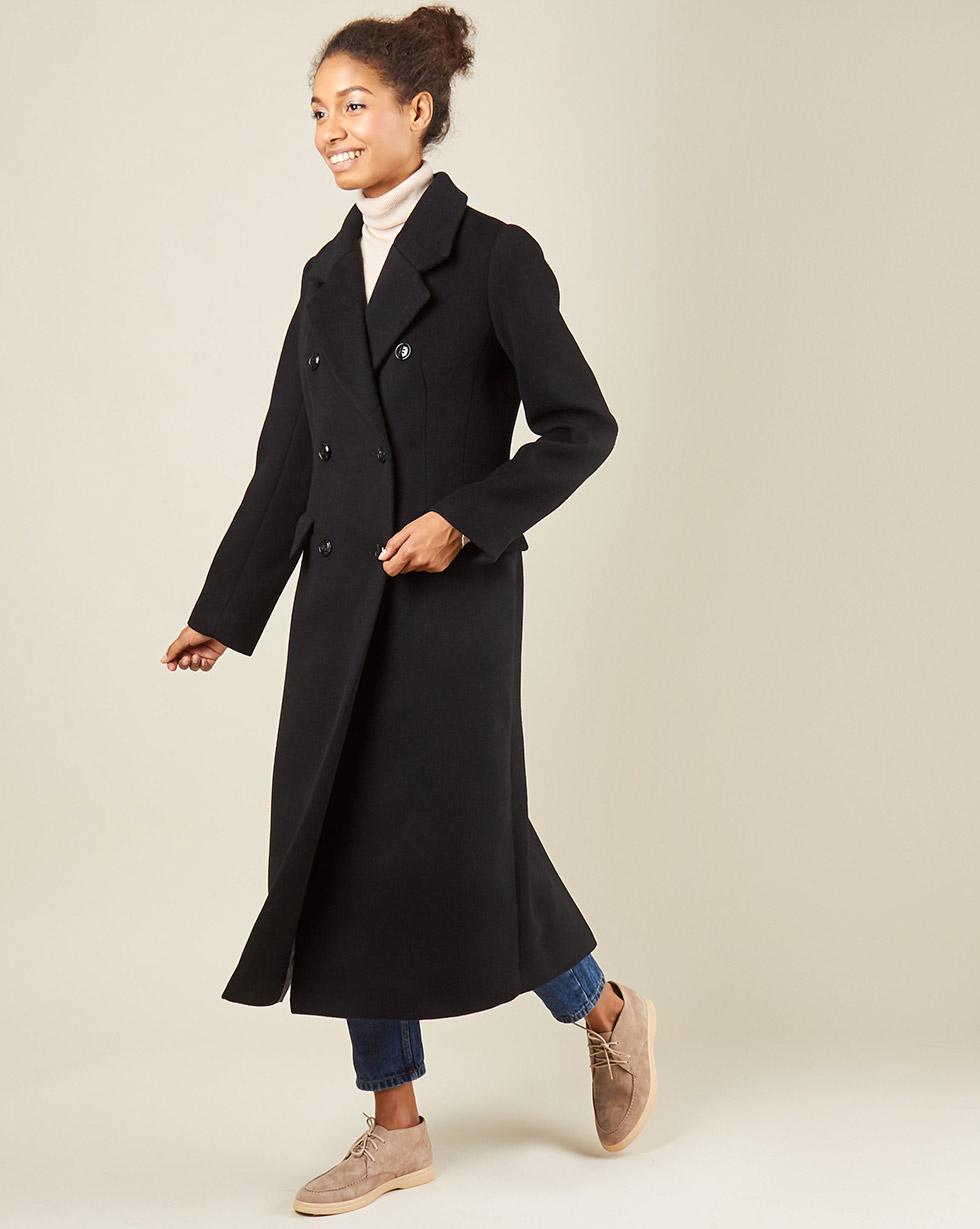 12Storeez Пальто классическое (черный)