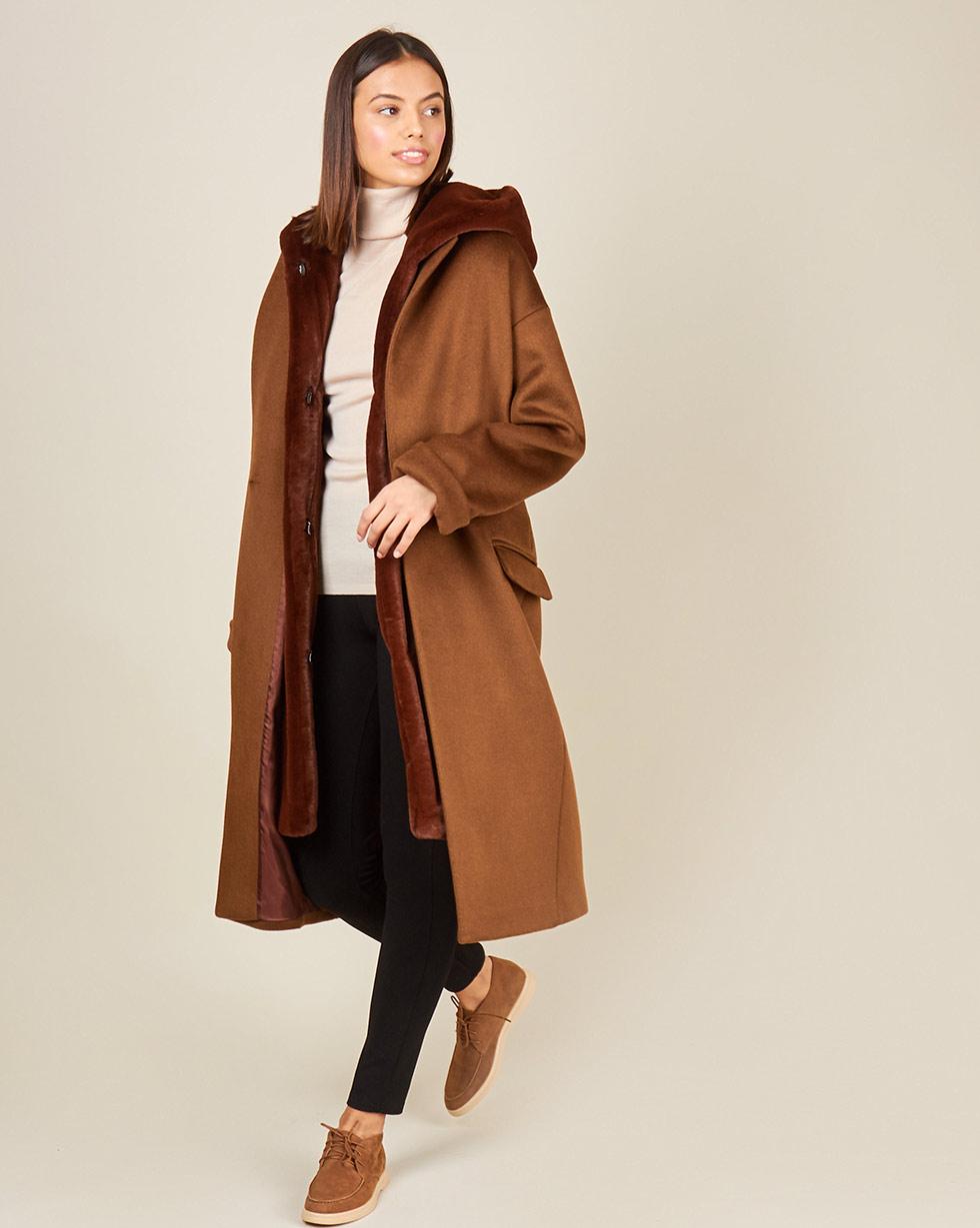 12Storeez Пальто утепленное (коричневый) керамогранит exagres stone gris flor 33х33 см