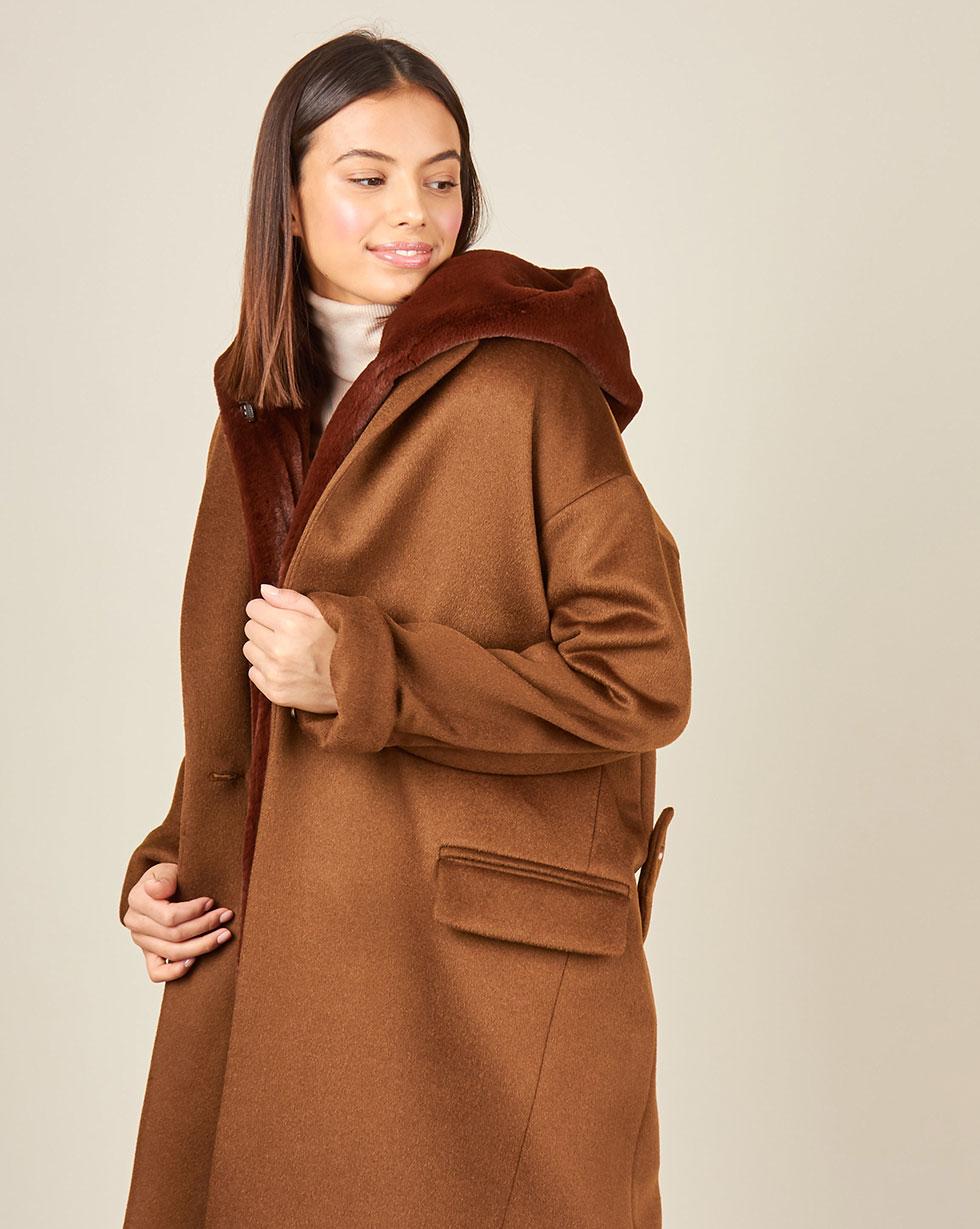 12Storeez Пальто утепленное (коричневый) цены онлайн
