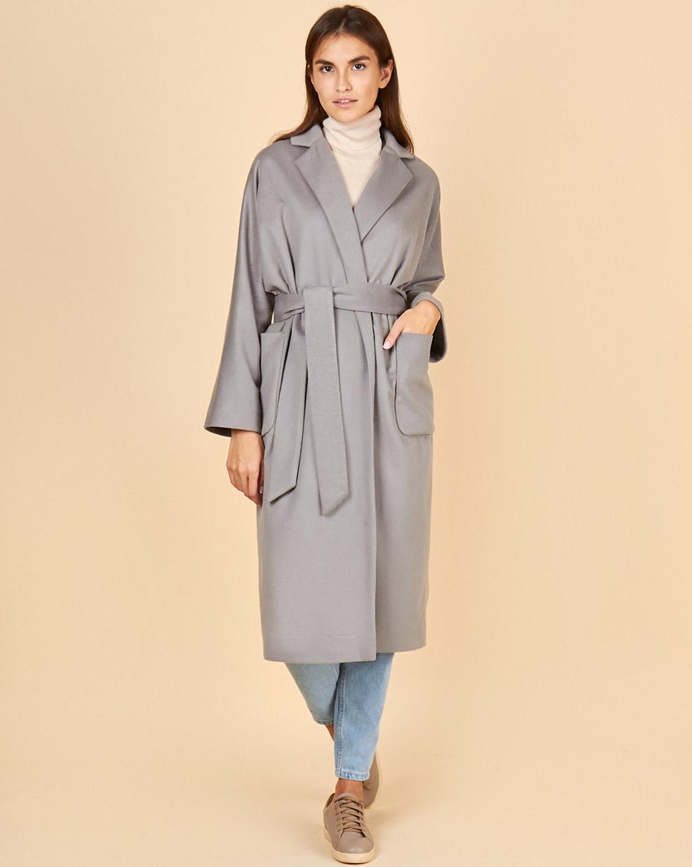 12Storeez Пальто - халат (серый)