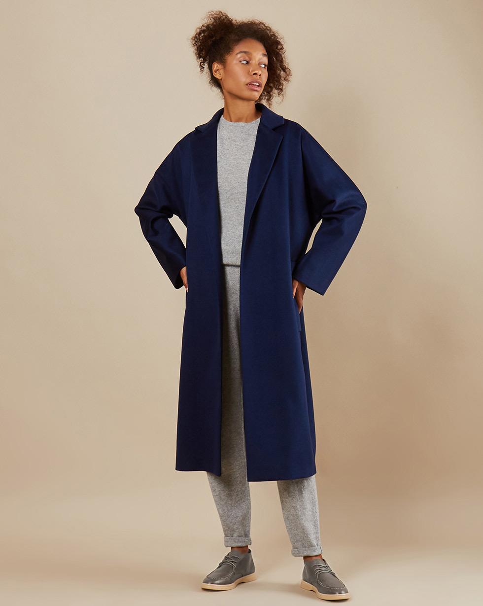 12Storeez Пальто-халат с поясом (синий) 12storeez пальто халат из кашемира желтый