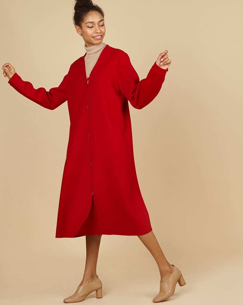 12Storeez Пальто с асимметричной застежкой (бордовый) SS19 12storeez пальто на поясе черный ss19