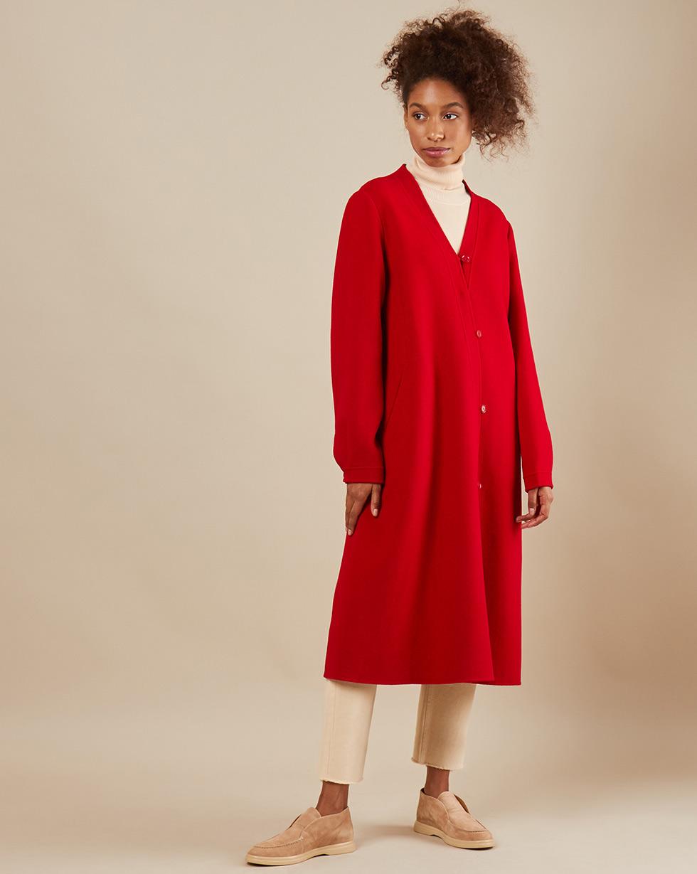 12Storeez Пальто с асимметричной застежкой (бордовый) SS19
