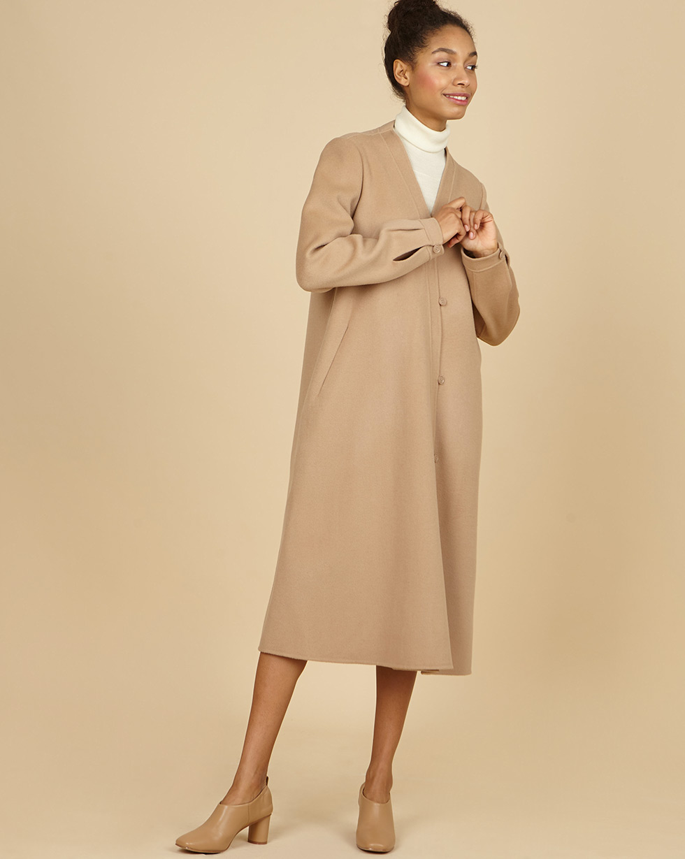 12Storeez Пальто с асимметричной застежкой (бежевый) SS19 12storeez пальто на поясе черный ss19