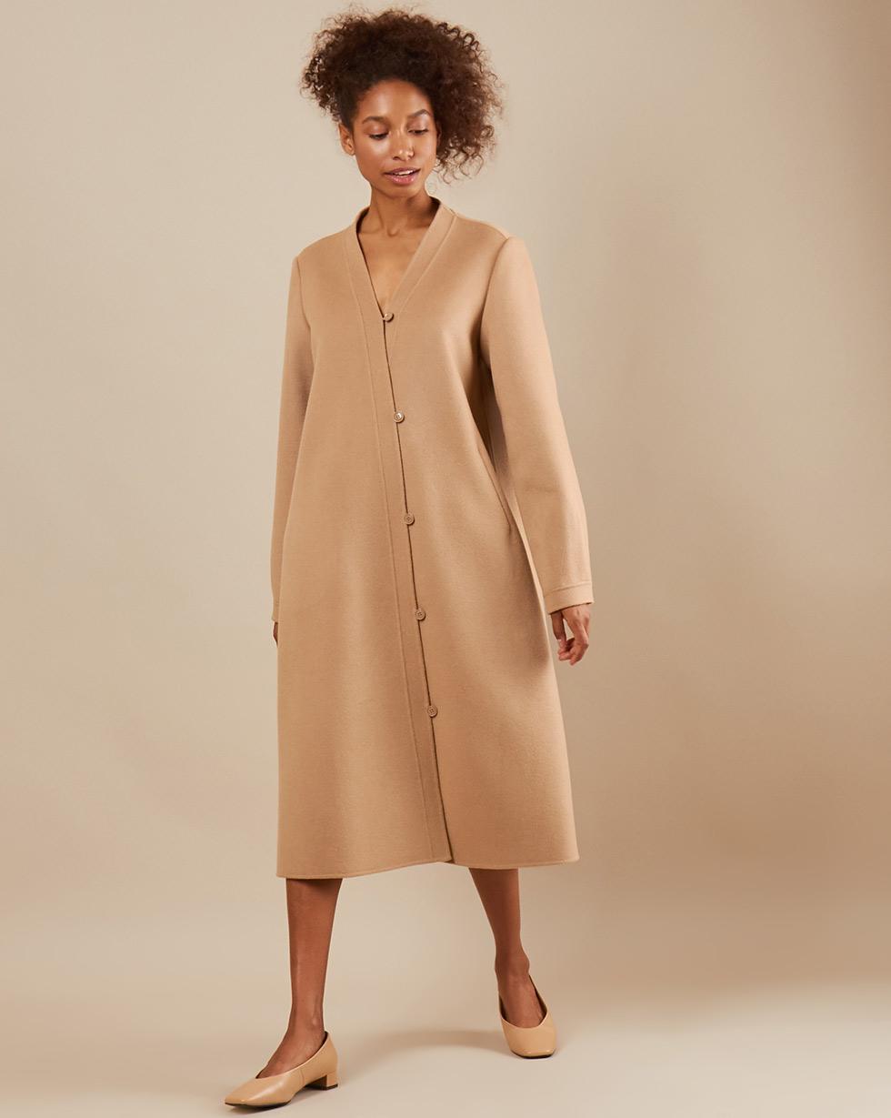 12Storeez Пальто с асимметричной застежкой (бежевый) SS19