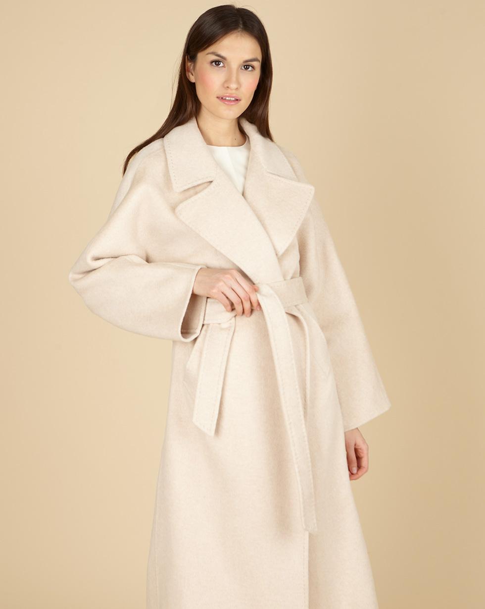 12Storeez Пальто на поясе с шелком (бежевый) SS19 12storeez пальто на поясе черный ss19